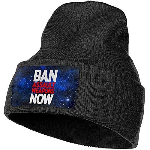 Quintion Robeson Hombres Mujeres prohíben Las Armas de Asalto Ahora Gorros Tejidos de Moda al Aire Libre Hat Gorras Suaves de Invierno