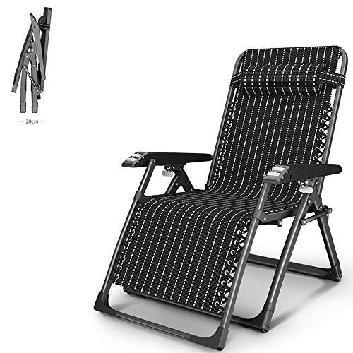 HPDOL Liegestuhl Relaxsessel/Gartensessel/Klappbarer Strandkorb/Liegestuhl, Massagefunktion, Abnehmbare KopfstüTze, Garten- / Pool- / Outdoor-Liegestuhl, Auflage 400 Kg,BLCE-01