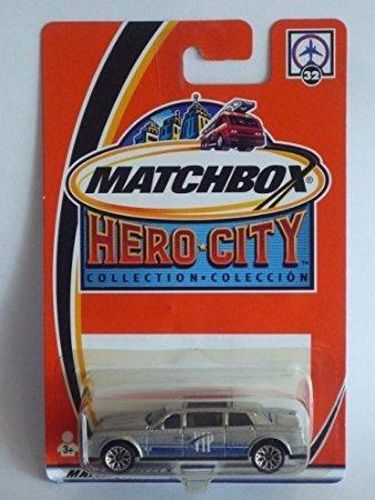 Dubblebla Matchbox Hero City 2002 #32 VIP Luxury Shuttle Limousine Silver
