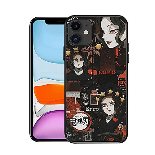 Estuche para iPhone 11, Diseño de patrón Anime Demon Slayer Carcasa de plástico + Carcasa Protectora de Parachoques de TPU 6.1 -Demon_Slayer_For_iPhone_8_Plus