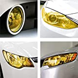 Vicinity Transparent Colored Headlight/Tail Light Tint Film Self Adhesive -Yellow (Size: 12 Inch x 24 Inch)