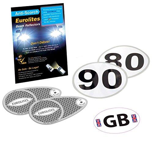 Déviateur de faisceau pour phare + autocollant GB + juridique vitesse Sticker Set