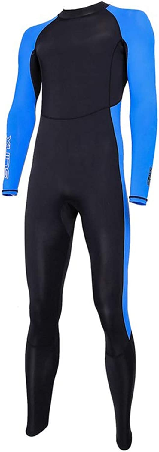 Full Body Thin Wetsuit Lycra UV Predection Long Sleeves Quick Dry Dive Skin Suit for Surfing Snorkeling Diving for Man and Woman 1pc Black and blueee L