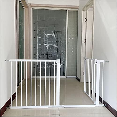 Puertas de Seguridad para Niños, Ajustable Reja Protectora, Puerta para mascotas con cierre automático, Ideal para perros o gatos, en escaleras en interiores y exteriores