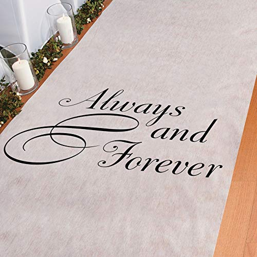 Always and Forever Wedding Aisle Runner -100 Feet Long - Wedding Ceremony Aisle Decorations