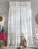 CHF Boho Lace Rod Pocket Curtain Panel