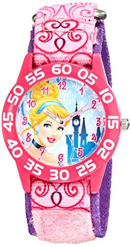 Disney Kids' W001671 Cinderella Analog Display Analog Quartz Pink Watch