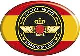 Artimagen Pegatina Oval Bandera España con círculo Ejército del Aire Resina 65x45 mm.