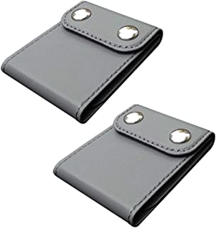 Seatbelt Adjuster, Comfort Universal Auto Shoulder Neck Strap Positioner Clips, Vehicle Seat Belt Covers (Grey, 2 Pack)