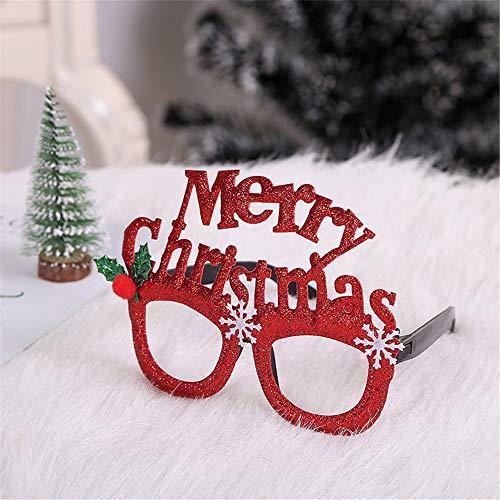 SONGHJ Navidad Niños Adultos Gafas Marco Adorno Navidad Niños Adultos Fiesta Vestir
