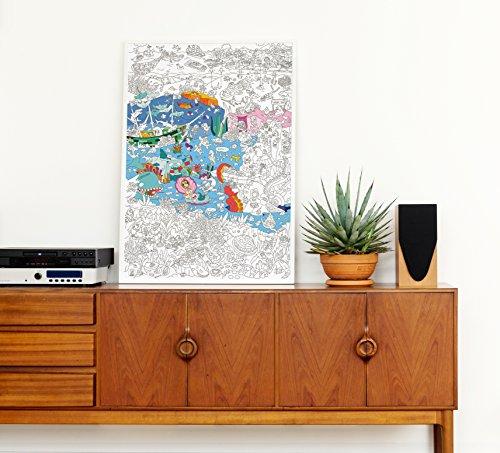 OMY Poster zum Ausmalen 40,4 x 26 x 24 cm orange