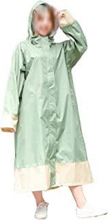 WZHZJ Long Raincoat Men Women Waterproof Windproof Hooded Light Rain Coat Ponchos Jacket Cloak Female Raincoat
