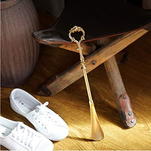 Zylxnt Hand Retro reines Kupfer Messing Schuhanzieher Erwähnung Schuhe zu Hause Veranda (Size : 15.74in)