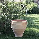 Palatina Cerámica | Macetero grande de terracota | 70 cm de alto | Maceta para exterior jardín rosa 70