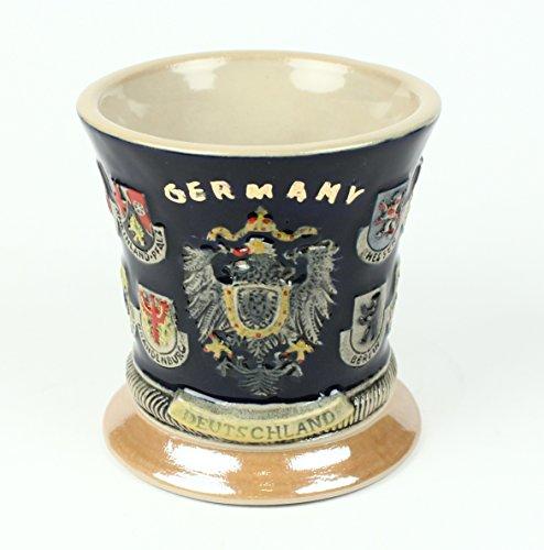 Buddel-Bini Becher Deutschland 16 Wappen Bierkrug Optik Kaffeebecher Kaffeetasse Tasse Pott Bier Glas