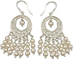 Orecchini perle e argento tipo filigrana