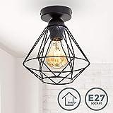 B.K.Licht plafonnier design rétro, éclairage plafond moderne, style industriel vintage, métal...