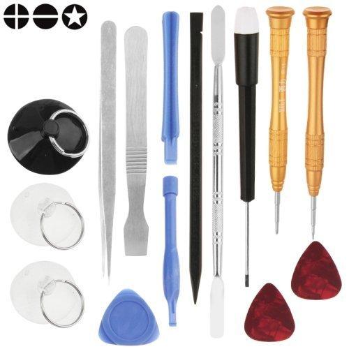 Acenix® 15in 1qualità apertura Tool kit di riparazione per iPhone 4/4S/5/5S/6/6S/6Plus, Samsung Galaxy S3, S4, S5, S6, S7