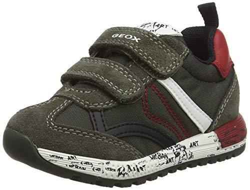 Geox Jungen B ALBEN Boy C Sneaker, Grün (Forest/Dk Red C3288), 22 EU