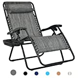 Patio Watcher Oversized Zero Gravity Chair Folding Recliner Chair with...