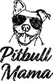LA STICKERS Pitbull Mama Funny Pit Bull Mom...