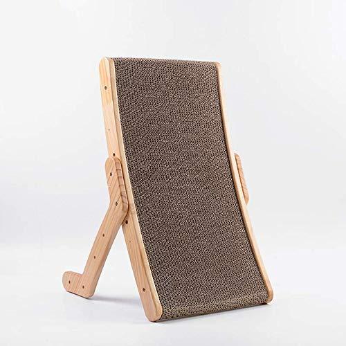 Petioto Tiragraffi in cartone e legno per gatti | Accessorio per dormire, giocare, riposare e affilare le unghie | Legno di pino naturale e cartone ondulato