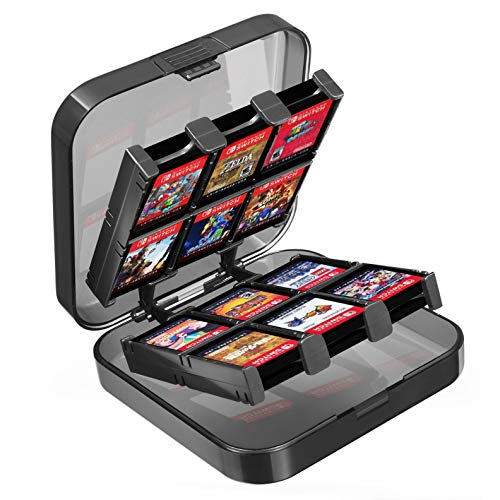 Lenfech. Estuche Porta Cartuchos para 24 Juegos de Nintendo Switch y Nintendo Switch Lite. Cuida y…