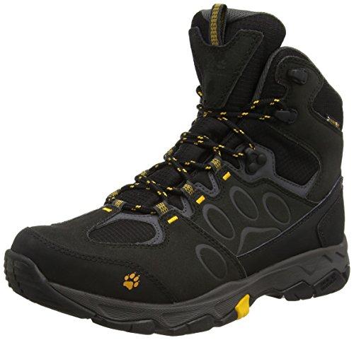Jack Wolfskin Herren MTN ATTACK 5 TEXAPORE MID M Trekking- & Wanderstiefel, Schwarz (Burly Yellow 3800), 42
