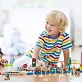 SNAGAROG Juego de 15 señales de tráfico,señales de tráfico de madera, juguetes educativos, señales de tráfico de madera para niños, juguetes educativos para el aprendizaje del conocimiento del tráfico