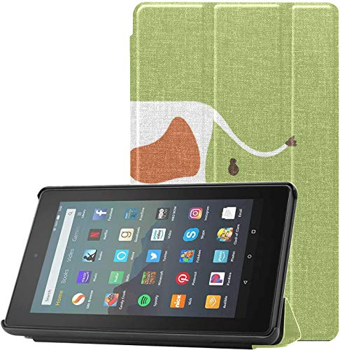 Cover 7inTabletCase Animal Milk Cow Nature Beauty Fire7KindleCase for Fire 7 Tablet (9th Generation, 2019 Release) Lightweight with Auto Sleep/Wake