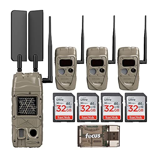 Cuddeback CuddeLink Cell Trail Camera (Verizon), Black Flash Medium Bundle (9 Items)