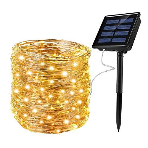 Ankway Rophie Solar 200 LED lámpara 22 metros Solar cable de cobre impermeable cadena de luces luces decoración interior luces para Navidad fiestas jardín bodas exterior decoración blanco cálido