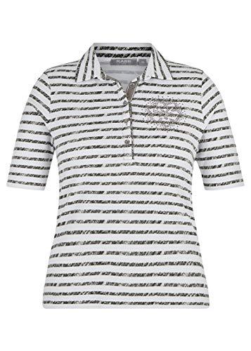Rabe Damen Shirt mit Polo-Kragen und Ziersteinen