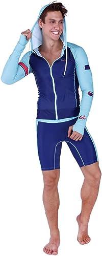 DUBAOBAO Combinaison de plongée pour Hommes, Combinaison de Sport avec voituredigan à glissière, Veste et Pantalon de Prougeection Contre Le Soleil, plongée, Natation, Surf, Rafting, Voile,3XL