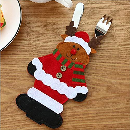 Generic Rlmobes Weihnachten Besteck Geschirrhalter Candy Pouch Bag Weihnachten Dekorationen Esstisch Ornamente,Elch