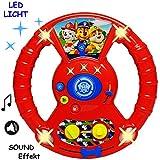 alles-meine.de GmbH Lenkrad - mit Sound & Licht - Paw Patrol - Hunde - Auto - echte Fahrgeräusche &...