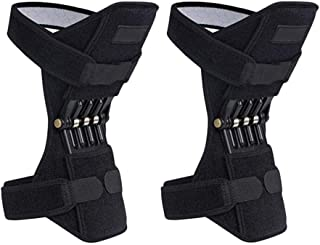 1 Pair Knee Braces Joint Supports, Power Lifts Knee Protection Booster, Knee Stabilizer Pads Protective Gear with Powerful Rebounds Spring Force, Health Supplies