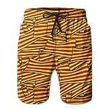 wwoman Pantalones Cortos de Nadar para Hombres Bandera de Cataluña Wave Collage Pantalones Cortos de Playa de Secado rápido,XXL