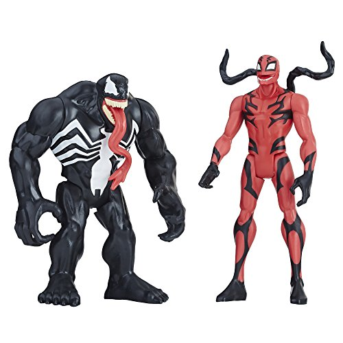 Marvel Venom, Venom and Carnage Action Figures, Collectible Action Figure Toys- 6 inch, 2 Pack