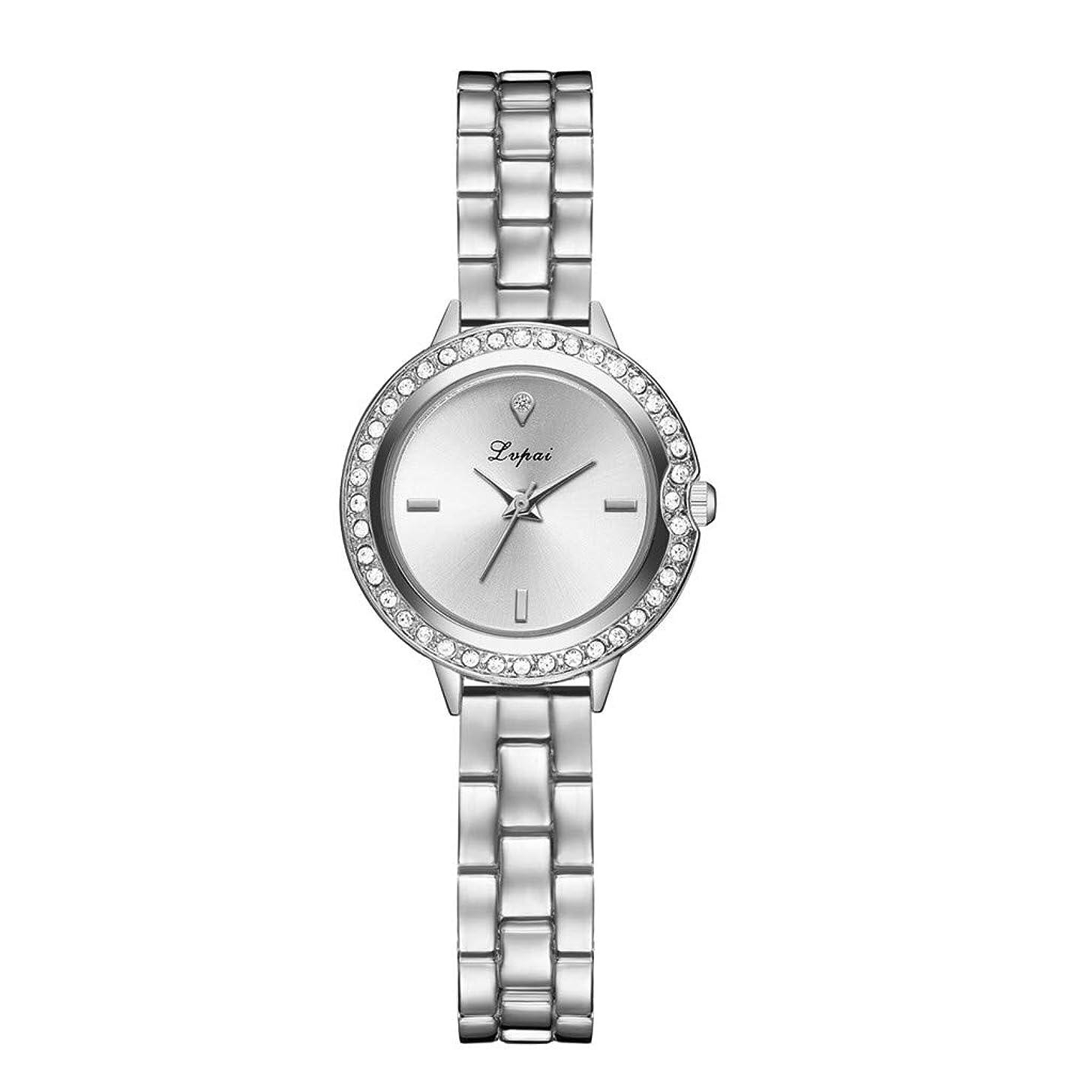 LUCAMORE Women's Ladies Quartz Watch Rhinestone Round Analog Watches Stainless Steel Bracelet Wrist Watches on Sale