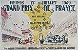 Grand Prix Reims Automobile 1949 Poster Poster, Format 50 x