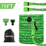 VEGKEY Tuyau d'arrosage, 75 Feet 22.5m Tuyau d'arrosage Extensible, Tuyau d'arrosage Rétractable Vert avec 8 Fonction Pistolet...