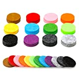 Coding 22mm Diameter Replacement Refill Pads(36PCS) for 30mm Stainless Steel Essential Oil Diffuser Necklace Pendant Locket Car Diffuser-12 Colors