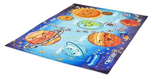 Obsession My Torino Kids- Teppiche, Polyester Chenille, Solar System, 80 x 120 cm