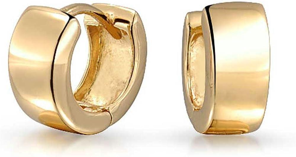 Simple Flat Popular product Kpop Wide Huggie Hoop Earrings Men Hin Women For Selling and selling