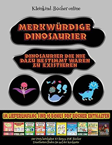 Kleinkind-Bücher online: Merkwürdige Dinosaurier - Ausschneiden und Einfügen