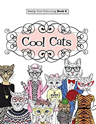 cool cats coloring book for adults