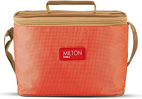 Milton Delicious Combo Stainless Steel Insulated Tiffin, 4 Pieces Set (3 Container and 1 Tumbler) Orange