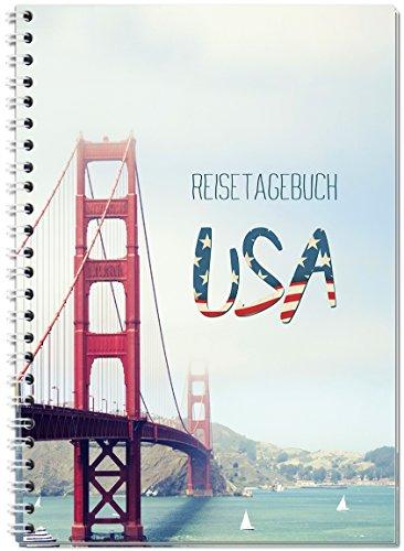 Reisetagebuch USA/Amerika zum Selberschreiben/Notizbuch A5 Ringbuch mit 120 Seiten/Packliste, Reiseplan, Zitate, spannende Reise-Challenges.Ver.1 - Von Sophies Kartenwelt