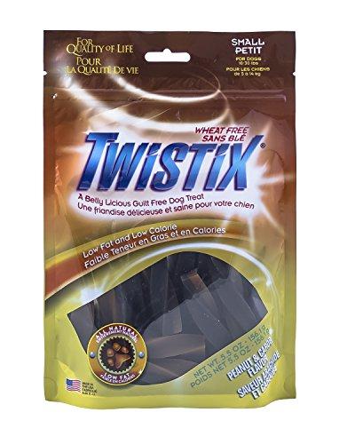 Twistix 5.5-Ounce Dental Chew Treat, Peanut And Carob Flavor, Small